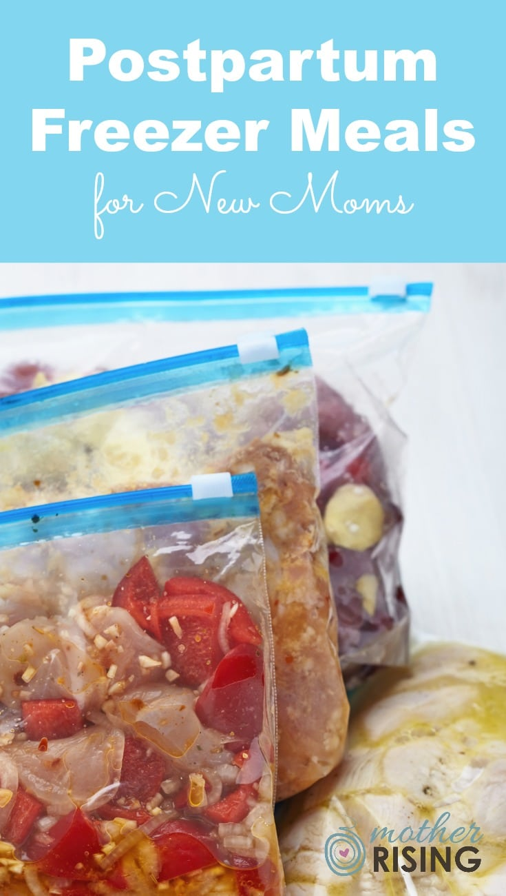 In preparation for postpartum I made 7 freezer meals for new moms - here's the list! Also included are some options that you might not have considered!