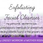 My Secret Homemade Facial Cleanser Recipe