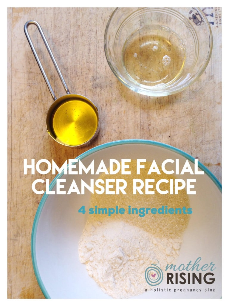 This homemade facial cleanser recipe has only 4 ingredients and is amazing. You will never use store bought facial cleanser again!