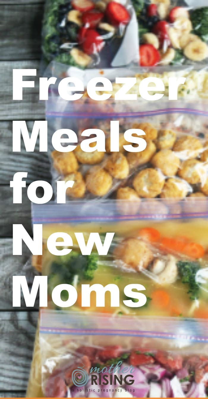 I did a MAJOR freezer cooking day in preparation for the early days of postpartum. Here is a list of the Freezer Meals for New Moms I used!