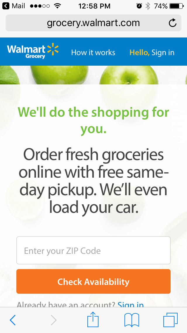 Add Groceries To Cart