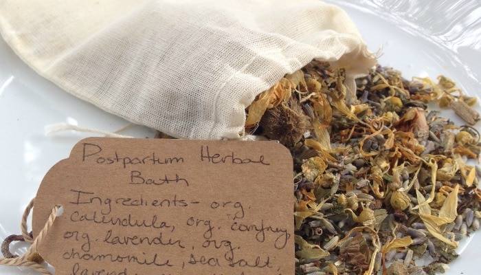 How to Make a Postpartum Herbal Bath | Mother Rising
