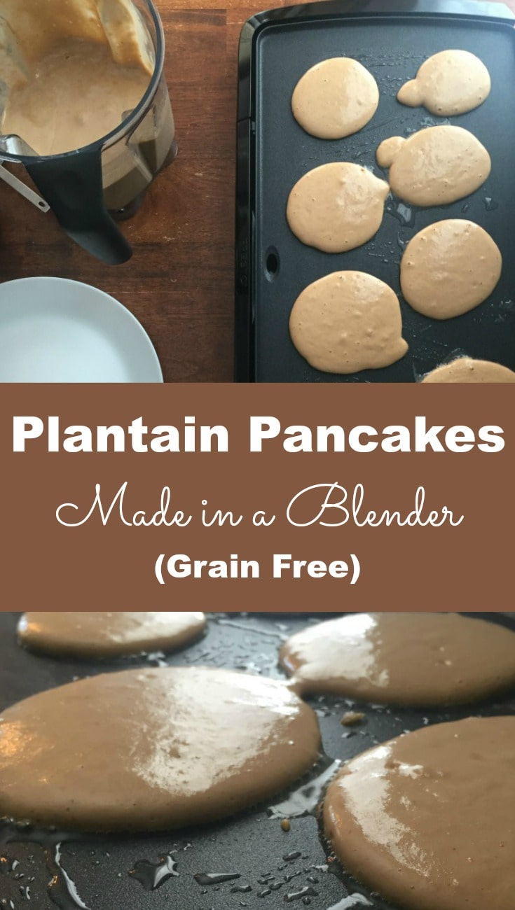 Because the American diet is inundated with grains, by trying new things like these plantain pancakes I can limit our exposure.