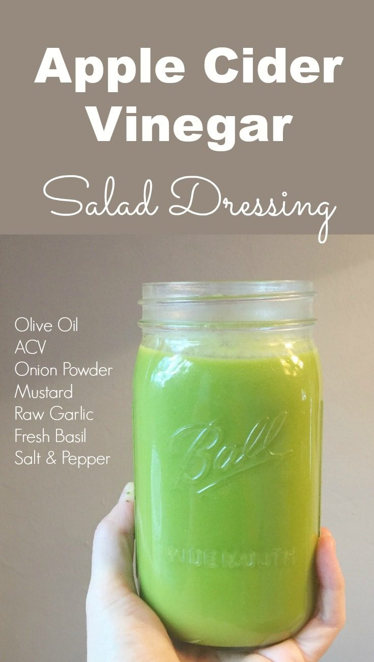 This apple cider vinegar salad dressing is DELICIOUS! My kids literally drink it out of the jar. It's a great alternative to sugary store bought dressings.
