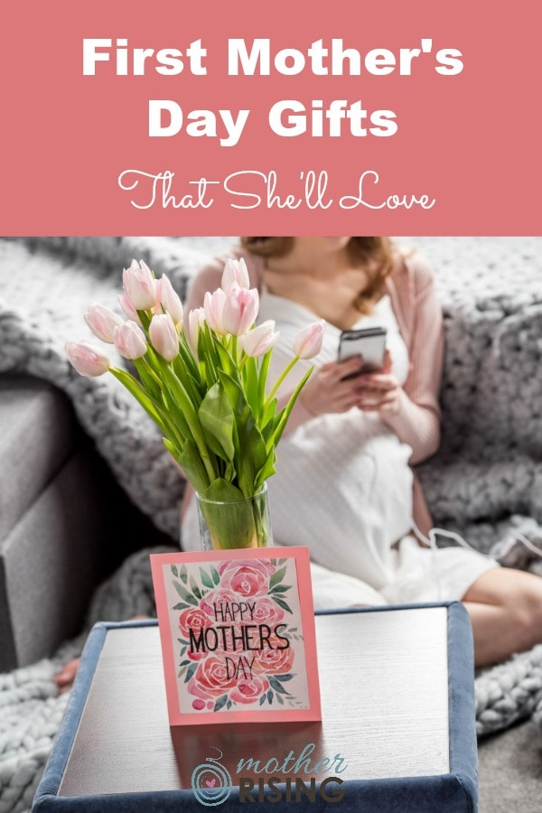 First mother's day gifts are some of the most treasured presents a woman may receive, other than the gift of a child.  For her first mother's day, give her a gift she'll love, use often, that will make her feel loved. #giftsformoms #mothersday #mothersdaygifts #giftsunder20 #giftsfornewmoms