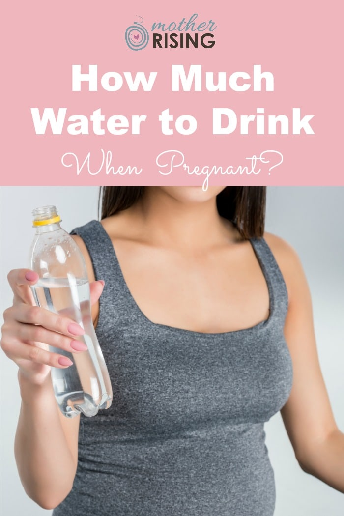 Adequate water intake is essential during pregnancy to feel good, think clearly, for the body to operate as it should, and grow a healthy baby.  If you've never thought about it before, now is the time to think about how much water to drink when pregnant. #pregnant #water #healthypregnancy #firsttrimester
