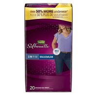Depend Silhouette Incontinence Underwear for Women, Maximum Absorbency, S/M, Beige (Packaging may vary)