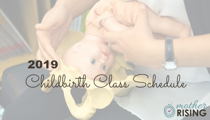 2019 Mother Rising Lindsey VanAlstyne Tallahassee FL Childbirth Class Schedule