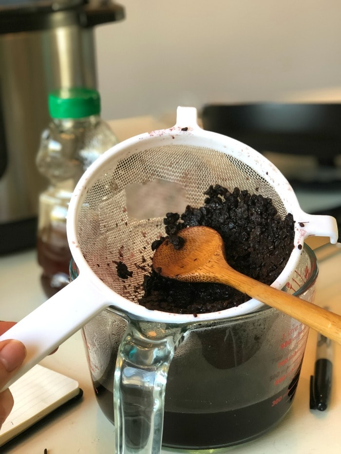 Taken daily elderberry syrup boosts the immune system and can shorten illnesses. Use these instructions to make instant pot elderberry syrup. It's so easy!