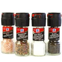 McCormick Salt and Pepper Grinders (Himalayan Pink Salt, Peppercorn Medley, Sea Salt, Black Peppercorn), 4 Count