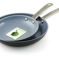 "GreenLife Gourmet Healthy Ceramic Non-Stick Hard Anodized 8"" and 10"" Frypans - CW0004369"