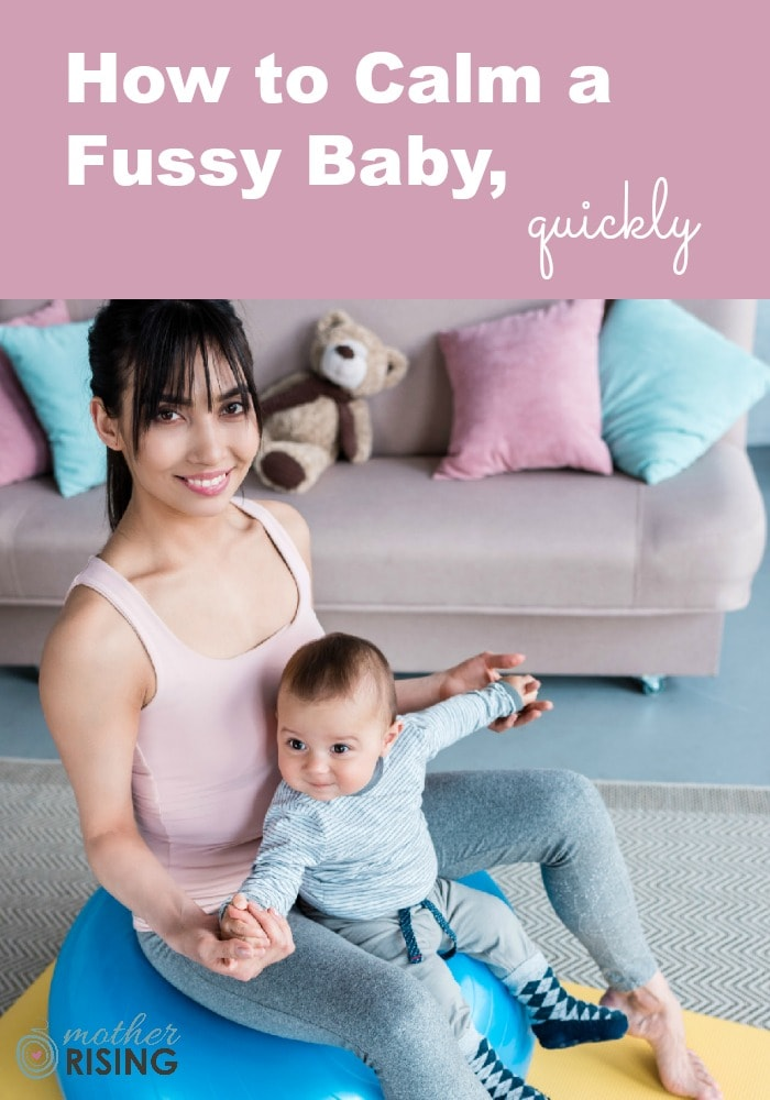 11 brilliant ideas that can calm a fussy baby quickly, many of which are free or inexpensive and can be done in the comfort of your own home. #postpartum #baby #fourthtrimester #infant #lifewithbaby